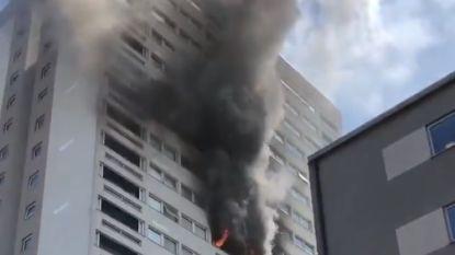 Zware brand in woontoren in Londen