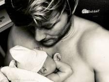 Tim Douwsma trotse vader geworden van een zoontje