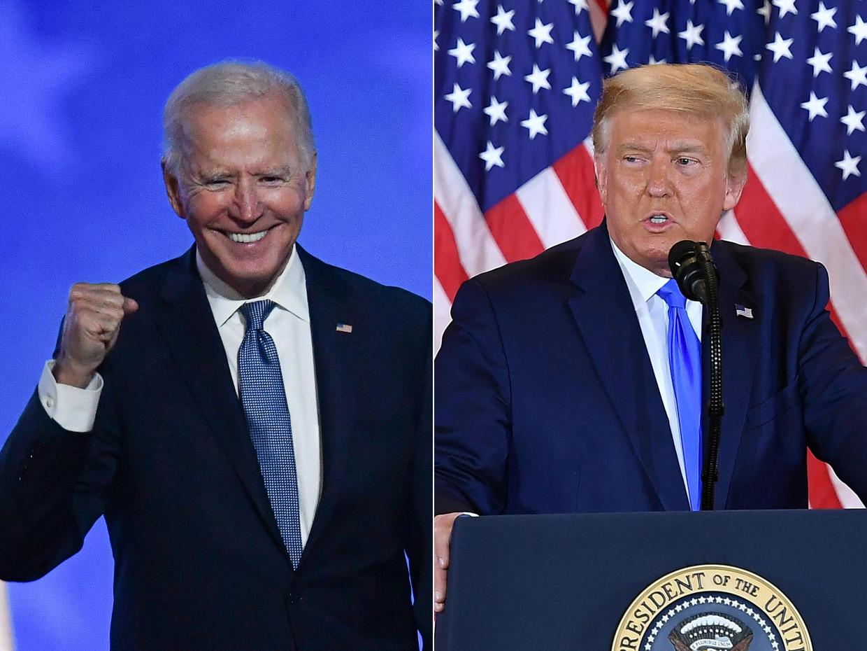 Biden versus Trump. Beeld AFP