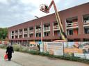 Aan het Burgemeester van de Mortelplein bouwt Tiwos momenteel 23 sociale huurwoningen.