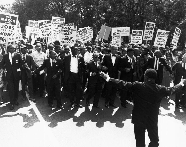Civil Rights March, 1963 (Photo by © CORBIS/Corbis via Getty Images) Beeld Corbis via Getty Images