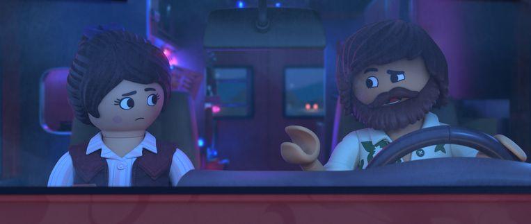 Uit de Playmobil de film, rechts het personage van Van de Pavert Beeld Independent Films