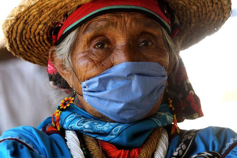 Een inheemse Mexicaanse. Beeld AFP
