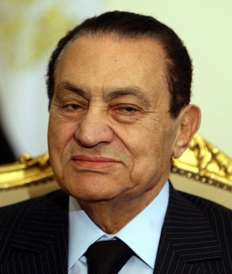 De voormalige president van Egypte Hosni Mubarak. © EPA Beeld