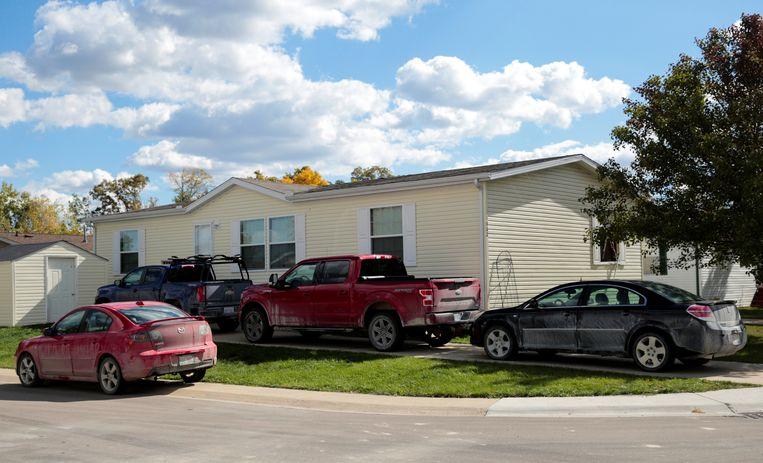 Een van de huizen die doorzocht werden door de FBI-agenten.  Beeld REUTERS