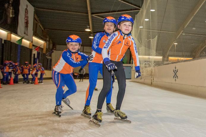 Op de schaatsbaan in Leiden krijgen de jongste toekomstige kampioenen schaatsles. Archiefbeeld