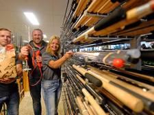Bij Geertjan Vos in Almelo zijn sportvissers aan het juiste adres