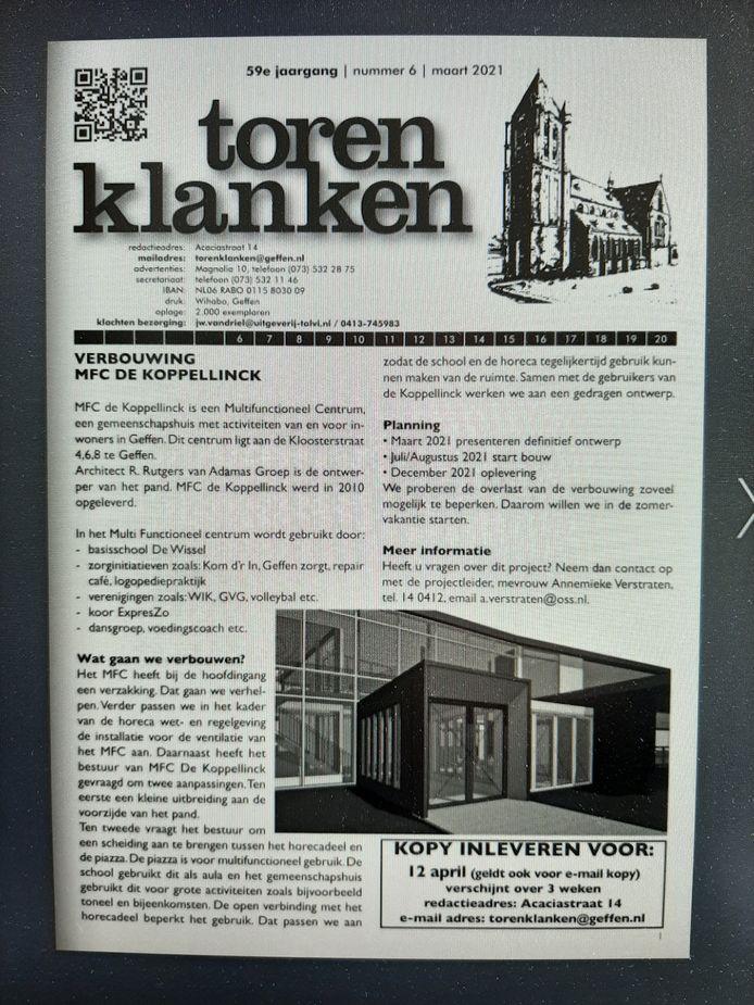 De meest recente editie van De Torenklanken.