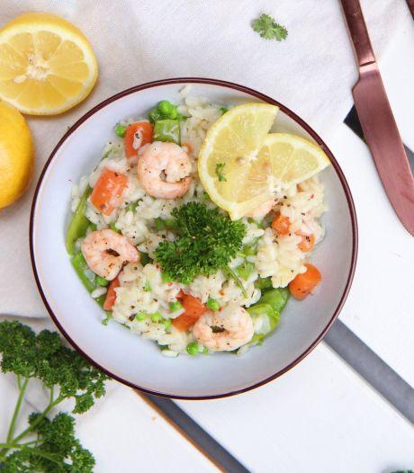 Wat Eten We Vandaag: Frisse risotto met garnalen