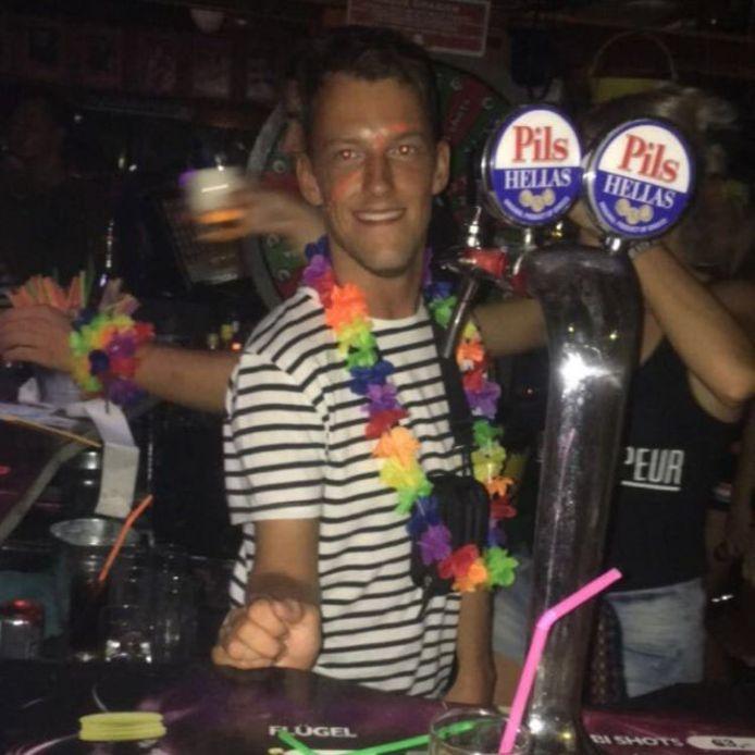 Thijs Fleuren aan het feesten.