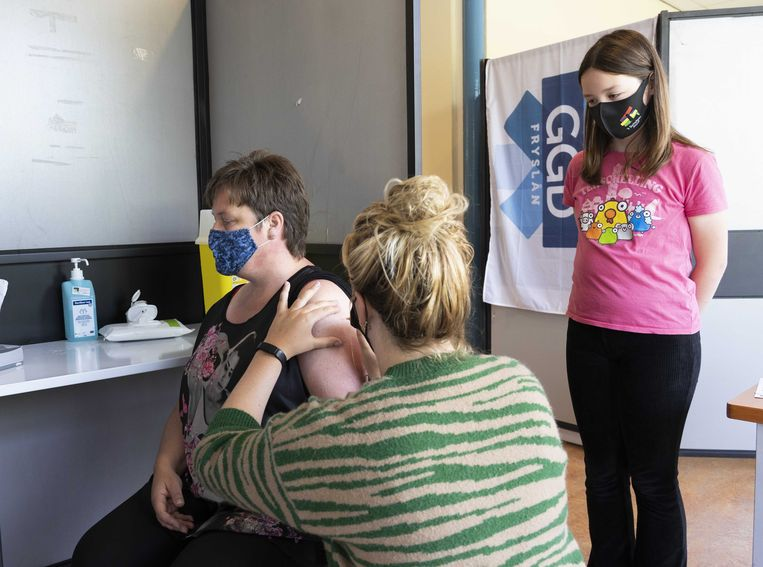 Een coronavaccinatie. Beeld ANP