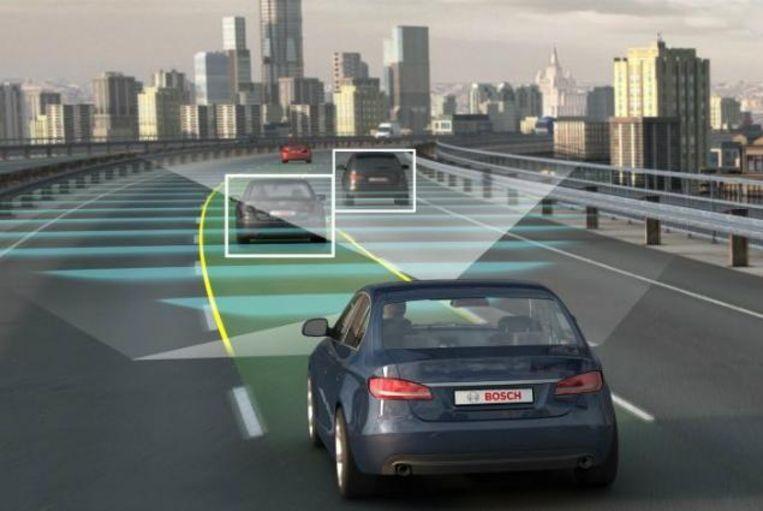 Concept van de 'slimme auto', door het Duitse technologiebedrijf Bosch. Beeld Bosch