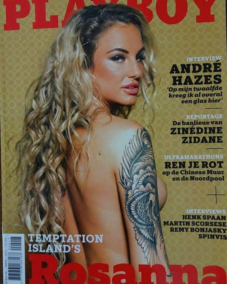 Rosanna uit Temptation Island op de cover van Playboy