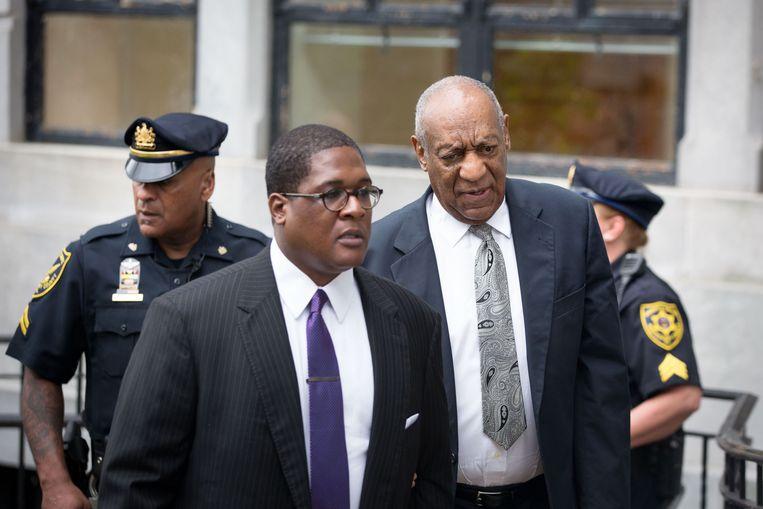 Bill Cosby, zaterdag bij de rechtbank.  Beeld AFP