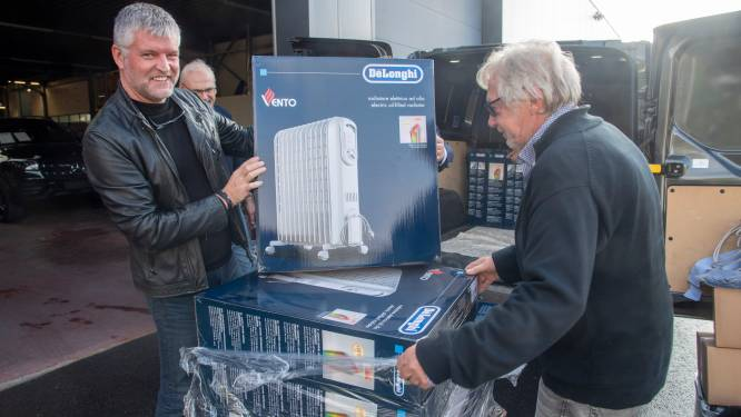 Lions Club Wetteren schenkt 113 elektrische verwarmingstoestellen aan rampgebied Verviers