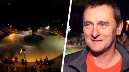 """Plein wordt geel geverfd in Sloveens dorp, maar vader Pogacar zit met gemengd gevoel: """"Heb te doen met Roglic"""""""