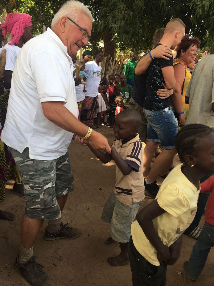 Leo Engelen tijdens een vakantie in Gambia in 2017.