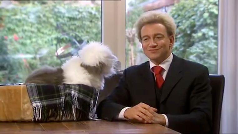 Samson en Geert (Wilders) in 'Koefnoen'. Beeld rv