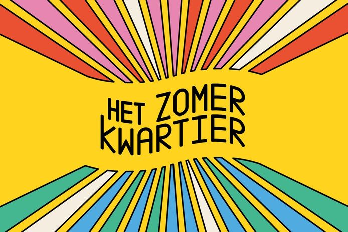 Het logo van 'Het Zomerkwartier', een gloednieuw zomerprogramma van Het Muziekodroom en Pukkelpop.