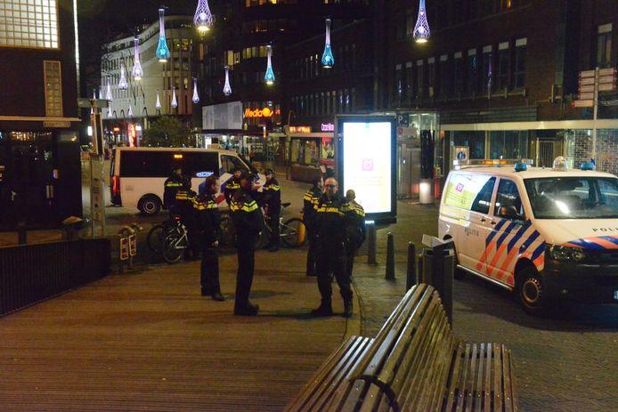 De politie was duidelijk aanwezig in het centrum van Den Haag.