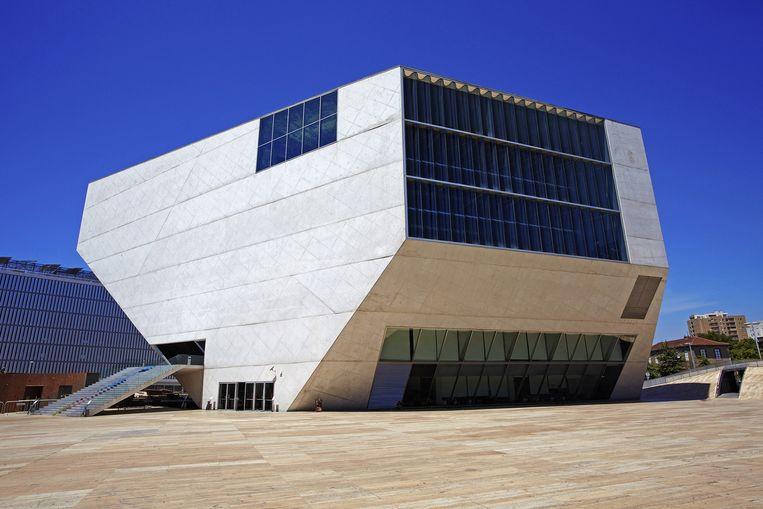 Het Casa da Musica in Porto van Rem Koolhaas. Beeld getty