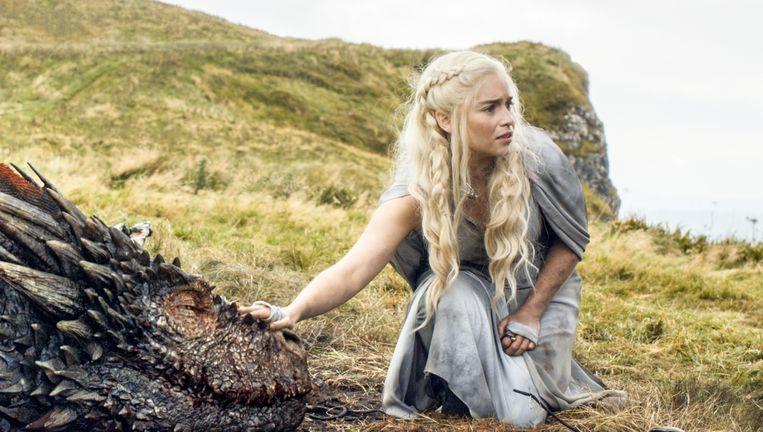 Emilia Clarke als Daenerys Targaryen in Game of Thrones. Beeld AP