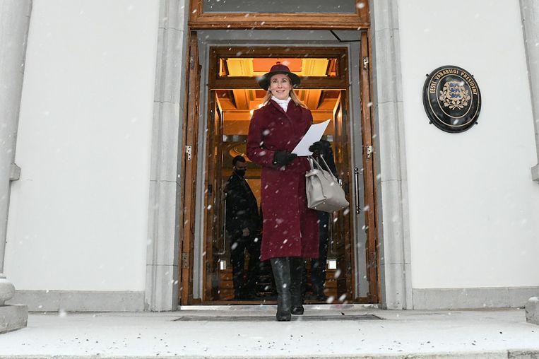 Kaja Kallas is de eerste vrouwelijke premier van Estland. Beeld Hollandse Hoogte / AFP