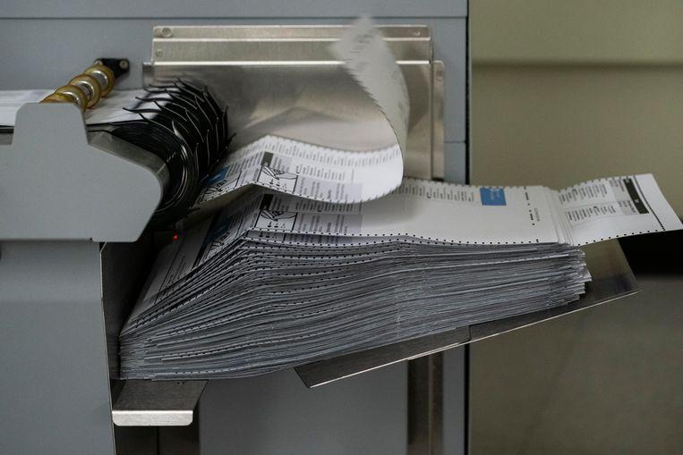 Per post stemmen zou vaker mis kunnen gaan en bovendien is het tellen van de stemmen arbeidsintensiever.  Beeld Getty Images