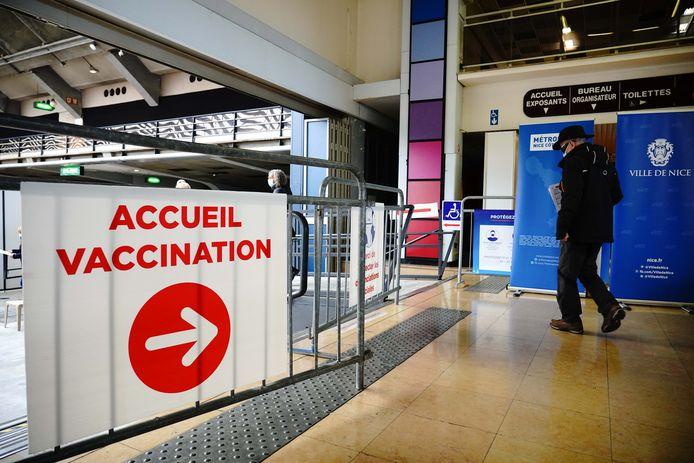 Le centre de vaccination avec la plus grande capacité de France à Nice.