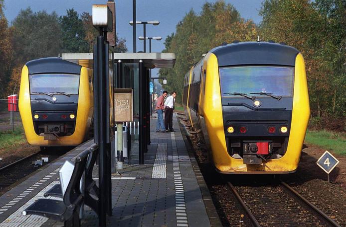 Dieseltreinen Spoorlijn Enschede Zwolle Nu Echt Verleden Tijd
