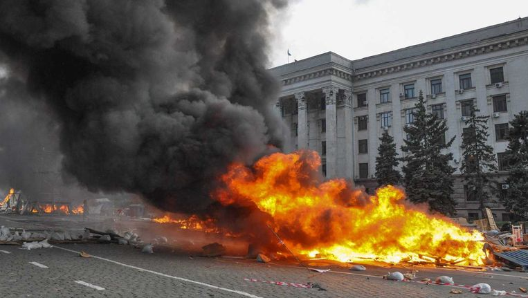 Archief - Aan het geweld in Oekraïne lijkt geen einde te komen. Beeld EPA
