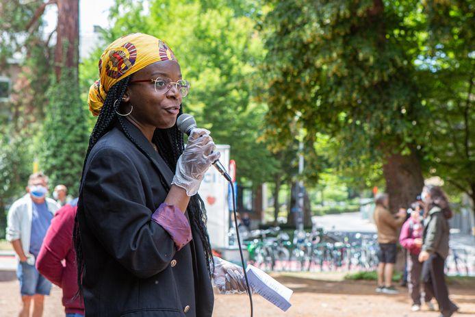 HALLE: Black Lives Matter BLM protest actie Albertpark Koning Albert I Park Belgian Youth Against Racism Eunice Yahuma Miguel Estrada: