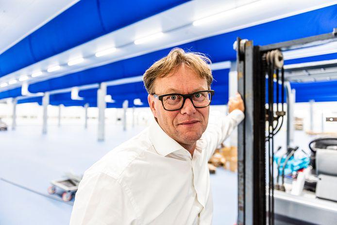 Directeur Diederik Vergeer in het nieuwe pand.