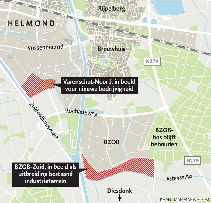 Helmond wil op twee plekken nieuw bedrijventerrein aanleggen.