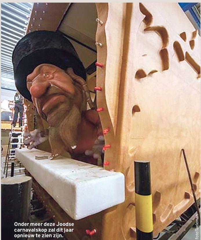Onder meer deze Joodse carnavalskop zal dit jaar opnieuw te zien zijn.