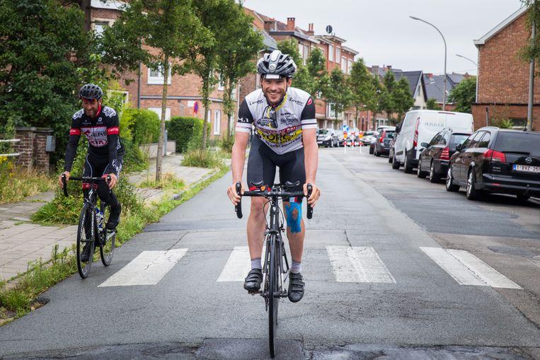 Dieter Van Huffel legt zijn laatste meters af