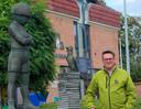 Ballonvaarder Koen De Jonghe van ballonteam Flying Comics.