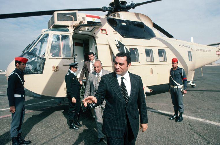 Mubarak, toen nog viceprecident, in 1977. Beeld Getty Images