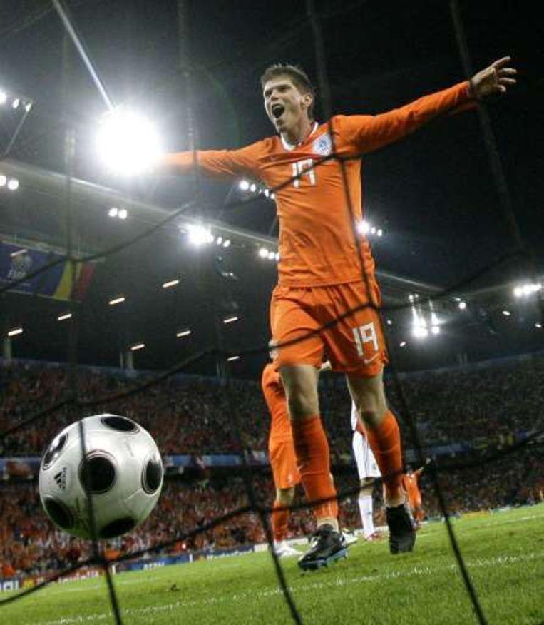 Huntelaar scoorde op het voorbije EK tegen Roemenië. Beeld UNKNOWN