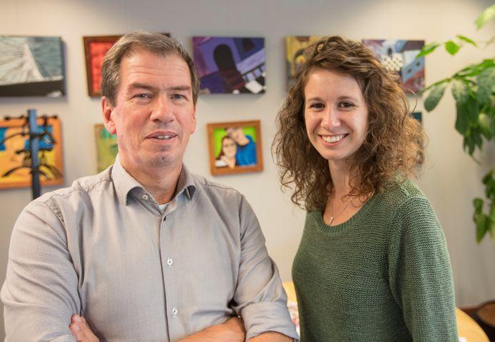 ORO bestuurder Jan Roelofs en Marjolein Karsemakers. Foto Ton van de Meulenhof