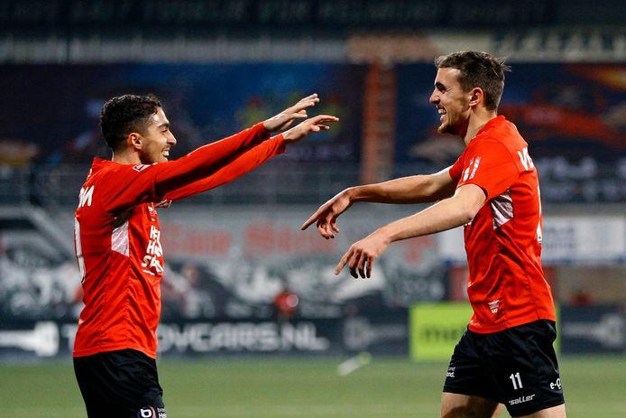 Karim Loukili en Lance Duijvestijn behoorden afgelopen seizoen tot de uitblinkers van Helmond Sport.