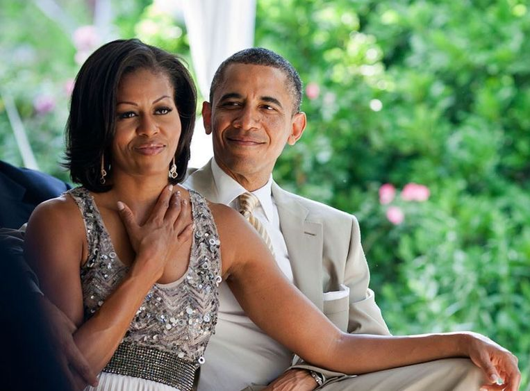Barack en Michelle Obama.