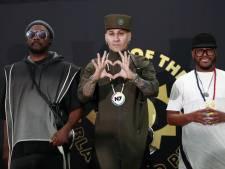 Black Eyed Peas ontmoeten fans in Vondelpark