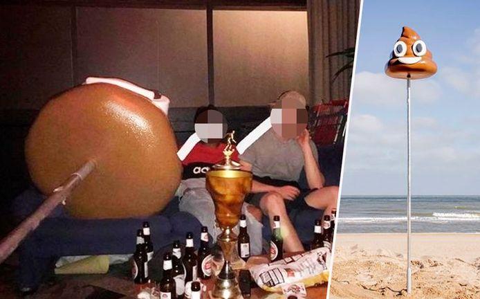 Après avoir subtilisé l'excrément souriant, les jeunes gens ont posté sur Instagram des photos de leur fête en sa compagnie