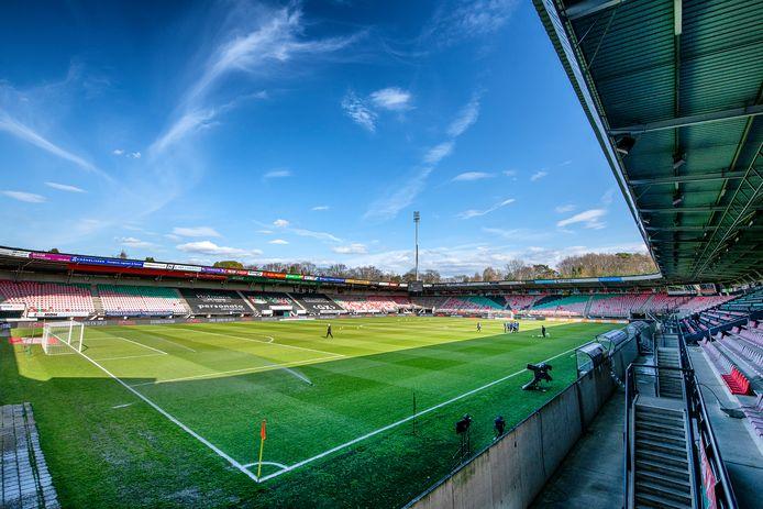 Het Goffertstadion.    Stadium overview before the match.