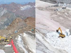 Un glacier en Autriche détruit pour agrandir un domaine skiable: les photos qui choquent