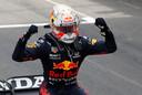 Max Verstappen na het winnen van de Grand Prix van Monaco.