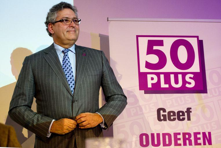 Fractievoorzitter Henk Krol tijdens de jaarlijkse algemene ledenvergadering van 50Plus. Beeld anp