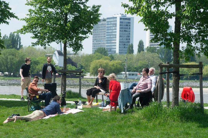 65% van de Antwerpenaars vindt dat er voldoende groen in de buurt is (op de foto: het Droogdokkenpark).