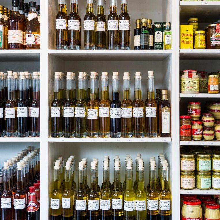 De olijfoliewinkel op de Brouwersgracht Beeld Tammy van Nerum